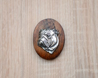 Bulldog, English Bulldog, dog clipring, dog show ring clip/number holder, limited edition, ArtDog