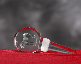 Appaloosa, Crystal Wine Stopper with Horse, Wine and Horse Lovers, High Quality, Exceptional Gift. New Collection
