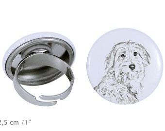 Ring with a dog- Pyrenean Shepherd