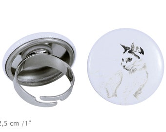 Ring with a cat -Japanese Bobtail