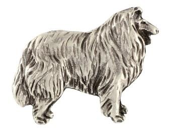 Collie, dog pin, limited edition, ArtDog