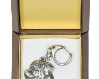 NEW, Tosa Inu, dog keyring, key holder, in casket, limited edition, ArtDog . Dog keyring for dog lovers