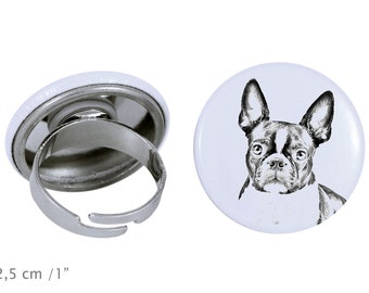 Ring with a dog - Boston Terrier