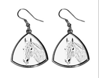 Orlov Trotter, collection of earrings with images of purebred horses, unique gift. Collection!