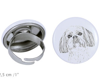 Ring with a dog - Shih Tzu