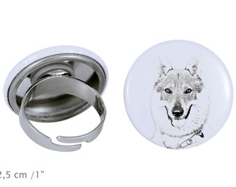 Ring with a dog- Czechoslovakian Wolfdog