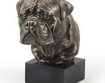Bullmastiff, dog marble statue, limited edition, ArtDog. Made of cold cast bronze. Solid, perfect gift. Limited edition.