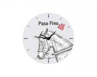 Paso Fino, Free standing MDF floor clock with an image of a horse.