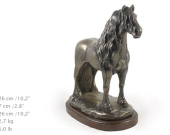 Fresian Horse (stallion), horse wooden base statue, limited edition, ArtDog