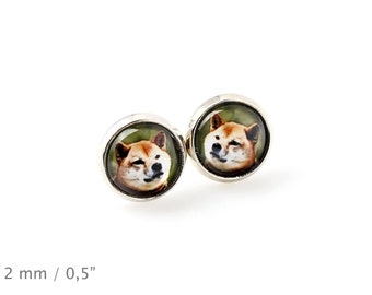 Shiba Inu. Pet in your ear. Earrings. Photojewelry. Handmade.
