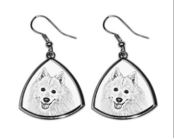 Japanese Spitz- NEW collection of earrings with images of purebred dogs, unique gift
