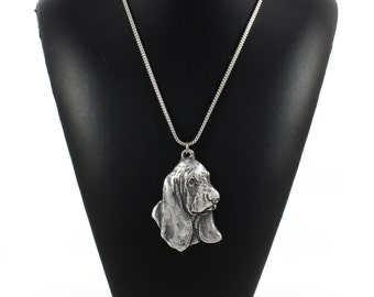 NEW, Basset Hound, dog necklace, silver chain 925, limited edition, ArtDog