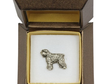 NEW, Flandres Cattle Dog , dog pin, in casket, limited edition, ArtDog