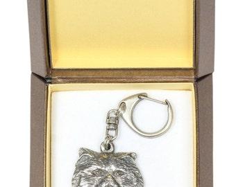 NEW, Persian Cat, cat keyring, key holder, in casket, limited edition, ArtDog