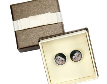 Borzoi, Russian Wolfhound. Cufflinks with box for dog lovers. Photo jewellery. Men's jewellery. Handmade