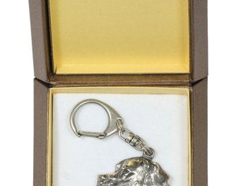NEW, Pointer, English Pointer, dog keyring, key holder, in casket, limited edition, ArtDog . Dog keyring for dog lovers