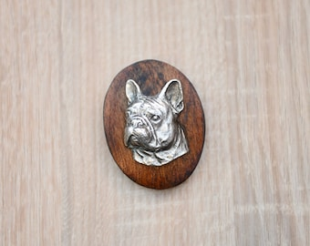 French Bulldog, dog show ring clip/number holder, limited edition, ArtDog