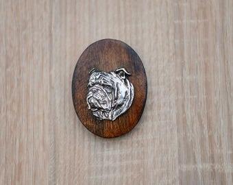 Bulldog, English Bulldog, dog clipring, dog show ring clip/number holder, limited edition, ArtDog