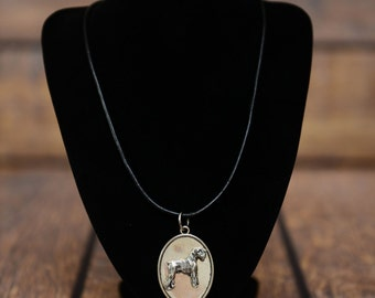 Schnauzer, dog necklace, medallion, limited edition, extraordinary gift, ArtDog