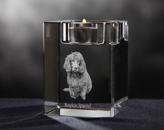 Boykin Spaniel - crystal candlestick with dog, souvenir, decoration, limited edition, Collection