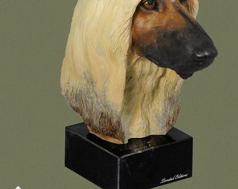Afghan Hound, dog marble statue, painted, limited edition, make your own statue, ArtDog