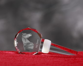 Bay, Crystal Wine Stopper with Horse, Wine and Horse Lovers, High Quality, Exceptional Gift. New Collection