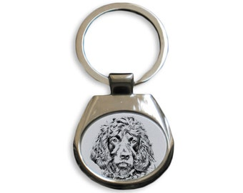 Boykin Spaniel - NEW collection of keyrings with images of purebred dogs, unique gift, sublimation . Dog keyring for dog lovers