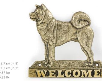 Akita Inu, dog welcome, hanging decoration, limited edition, ArtDog