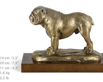 Bulldog, English Bulldog, dog wooden base statue, limited edition, ArtDog