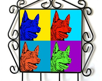 Australian Kelpie- clothes hanger with an image of a dog. Collection. Andy Warhol Style