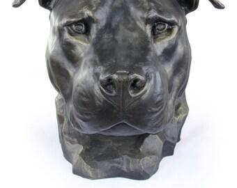 American Stafforshire Bull Terrier (uncropped), dog big head statue, limited edition, ArtDog