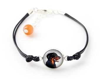 Beauceron. Bracelet for people who love dogs. Photojewelry. Handmade.