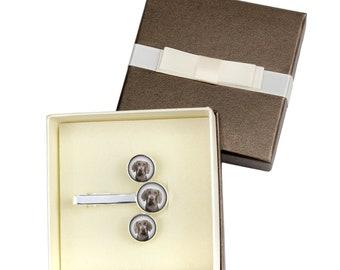 Weimaraner. Jewelry for dog lovers. Cufflinks and tie pin . Photo jewellery. Men's jewellery. Handmade