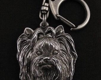Yorkshire Terrier, Yorkie, dog keyring, keychain, limited edition, ArtDog . Dog keyring for dog lovers