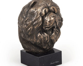 Chow Chow, dog marble statue, limited edition, ArtDog. Made of cold cast bronze. Perfect gift. Limited edition