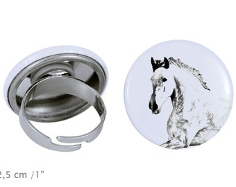 Ring with a horse - Andalusian