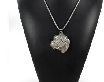 NEW, Bullmastiff, dog necklace, silver chain 925, limited edition, ArtDog