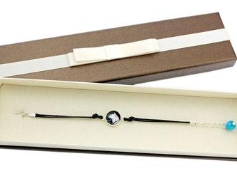 Akita Inu. Bracelet with box for people who love dogs. Photojewelry. Handmade.