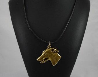 Grey Hound,  English Greyhound, millesimal fineness 999, dog necklace, limited edition, ArtDog