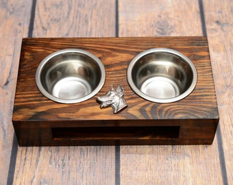 A dog's bowls with a relief from ARTDOG collection - Dobermann