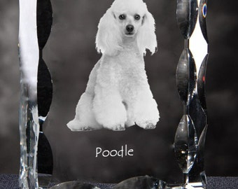 Poodle, Cubic crystal with dog, souvenir, decoration, limited edition, Collection