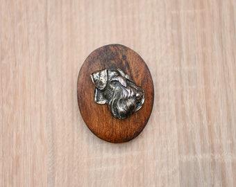 Schnauzer, dog clipring, dog show ring clip/number holder, limited edition, ArtDog
