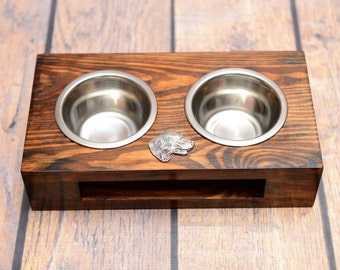 A dog's bowls with a relief from ARTDOG collection -Setter