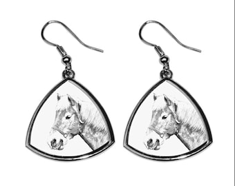 Haflinger, collection of earrings with images of purebred horses, unique gift. Collection!