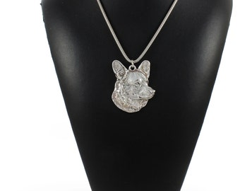 NEW, Welsh Corgi, dog necklace, silver cord 925, limited edition, ArtDog