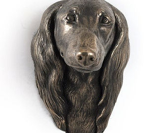 Dachshund (long haired), dog hanging statue, limited edition, ArtDog