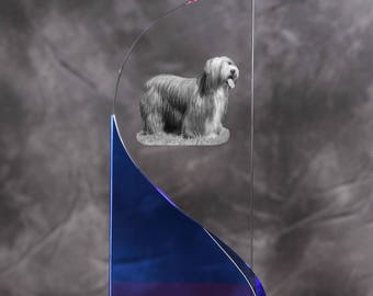 Bearded Collie- crystal statue in the likeness of the dog