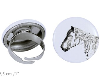Ring with a horse - Belgian horse, Belgian draft horse