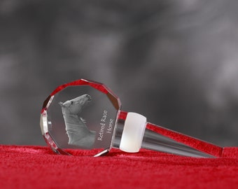Retired Race Horse, Crystal Wine Stopper with Horse, Wine and Horse Lovers, High Quality, Exceptional Gift. New Collection