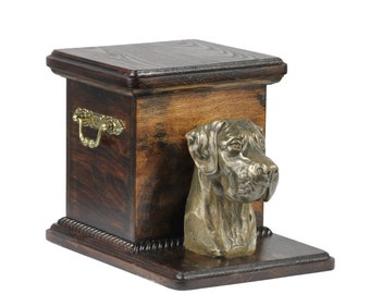 Urn for dog's ashes with a standing statue -Great Dane, ART-DOG